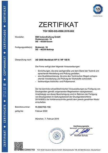 Annika Zaremski Zertifikat DE AD HP HP R